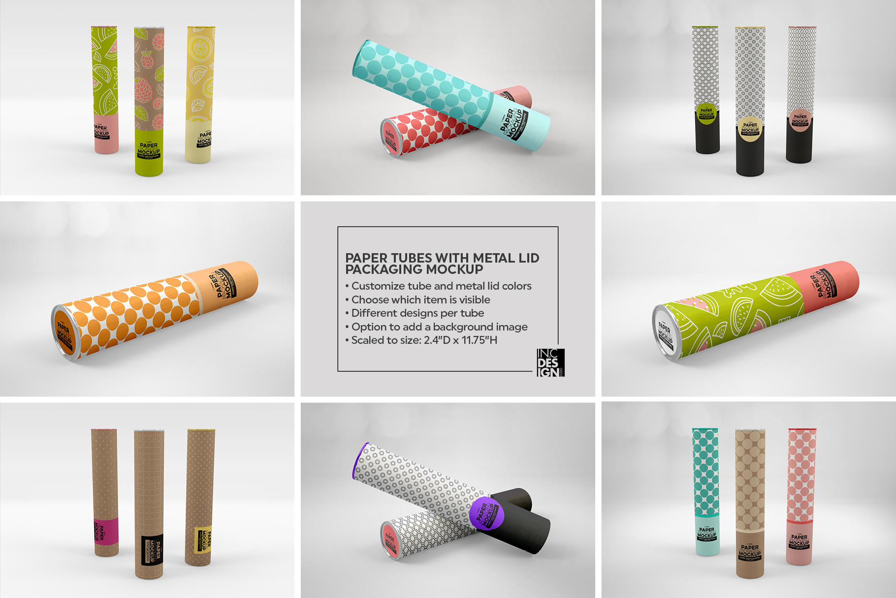 Paper Tube Packaging Mockup example image 4