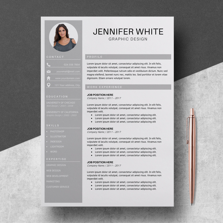 Resume Template | CV Cover Letter - Jennifer White