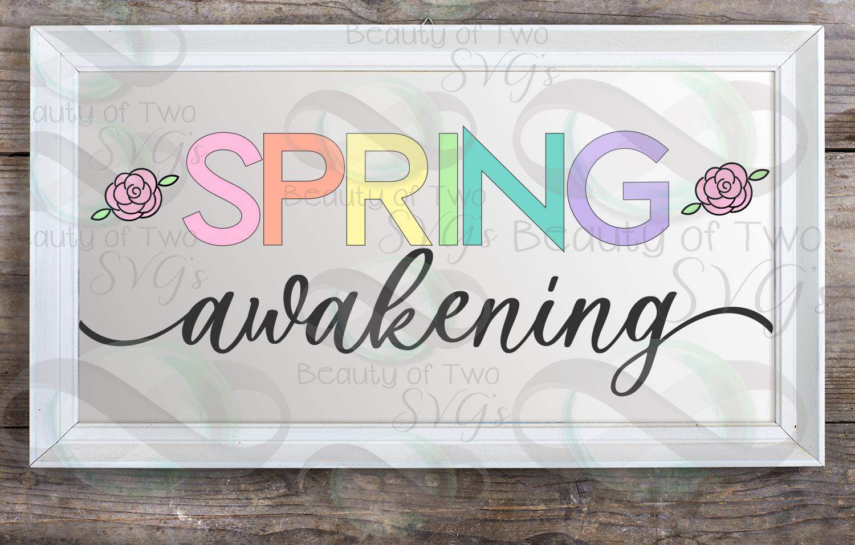 Spring Awakening svg, Spring Flowers svg, Spring svg example image 3