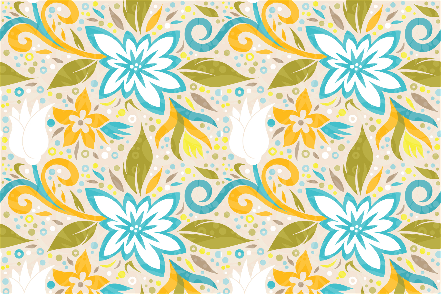 Floral Dynamic Vector Pattern example image 3