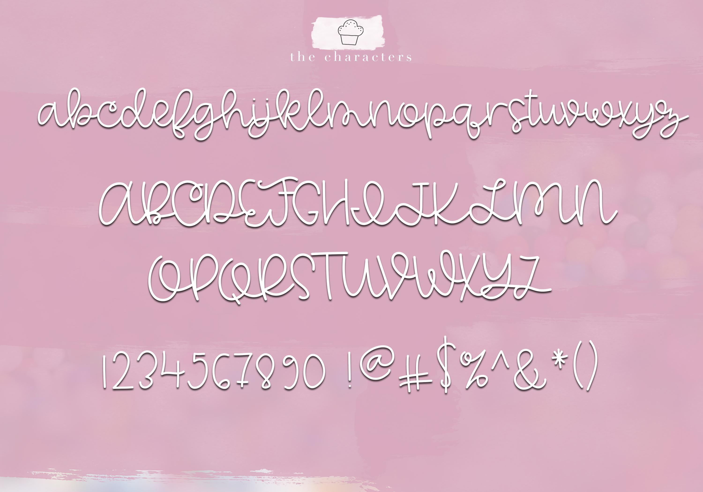 Vanilla Cupcake - A Handwritten Script Font example image 8