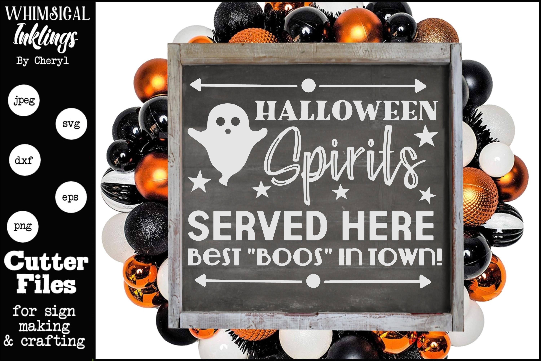 Halloween Spirits SVG example image 1