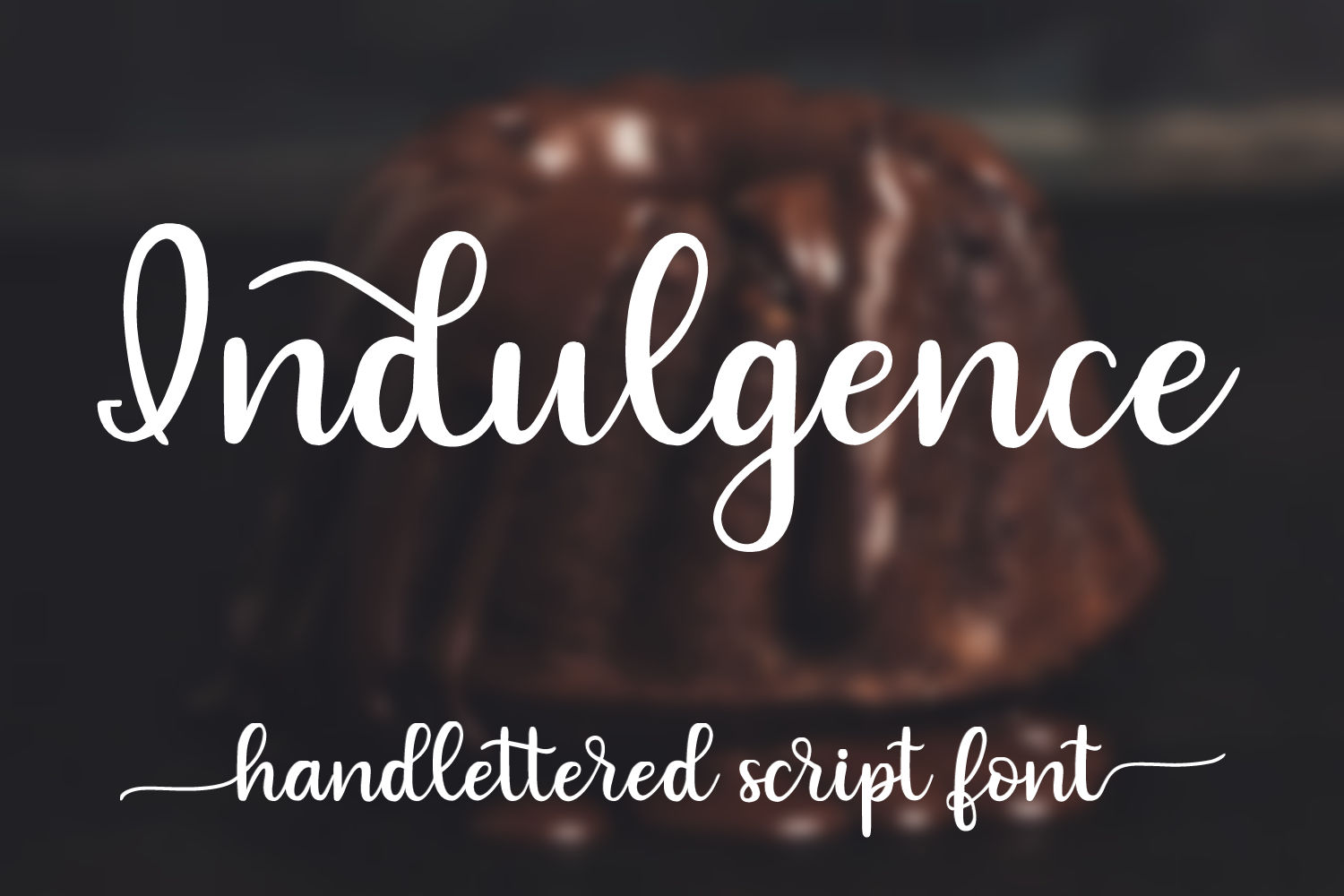 Indulgence - A handlettered script font example image 1