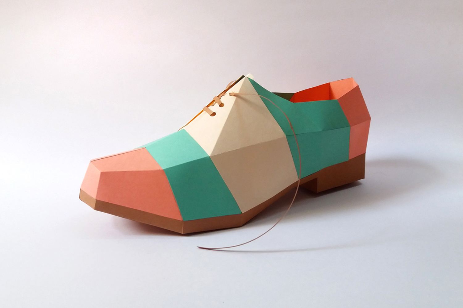 DIY Colorful Shoe - 3d papercrafts example image 2