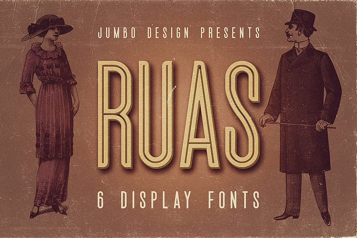 Ruas - Vintage Style Font example image 1