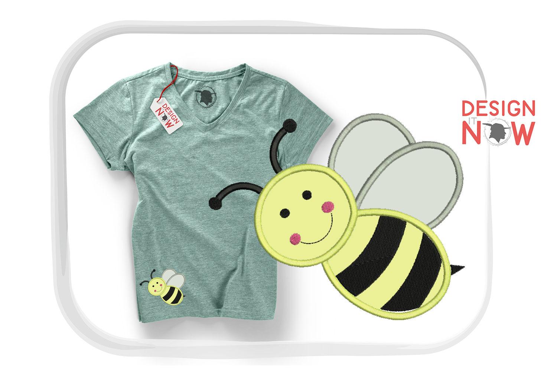 Bee Applique Design, Bee Embroidery, Handmade example image 5