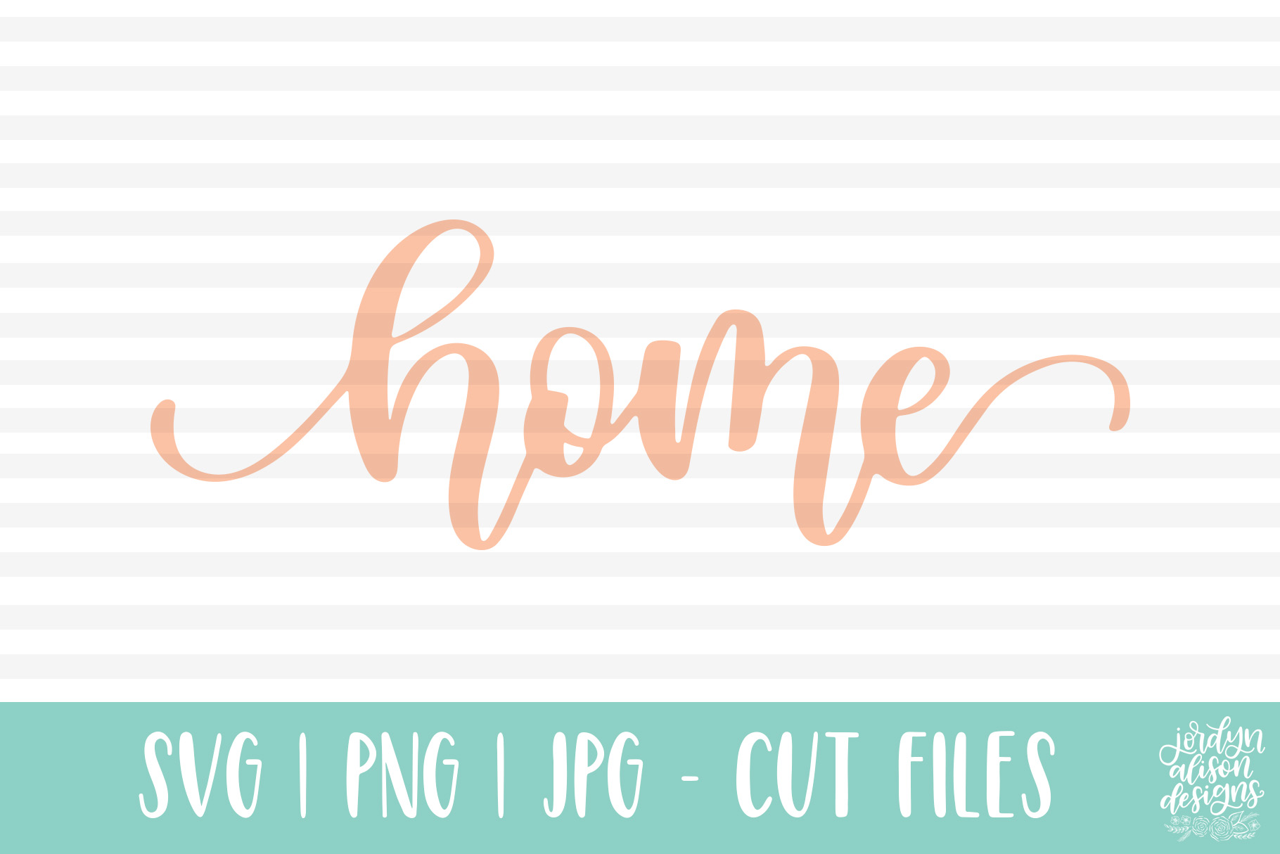 Home, Hand Lettered SVG Cut File for the House example image 2