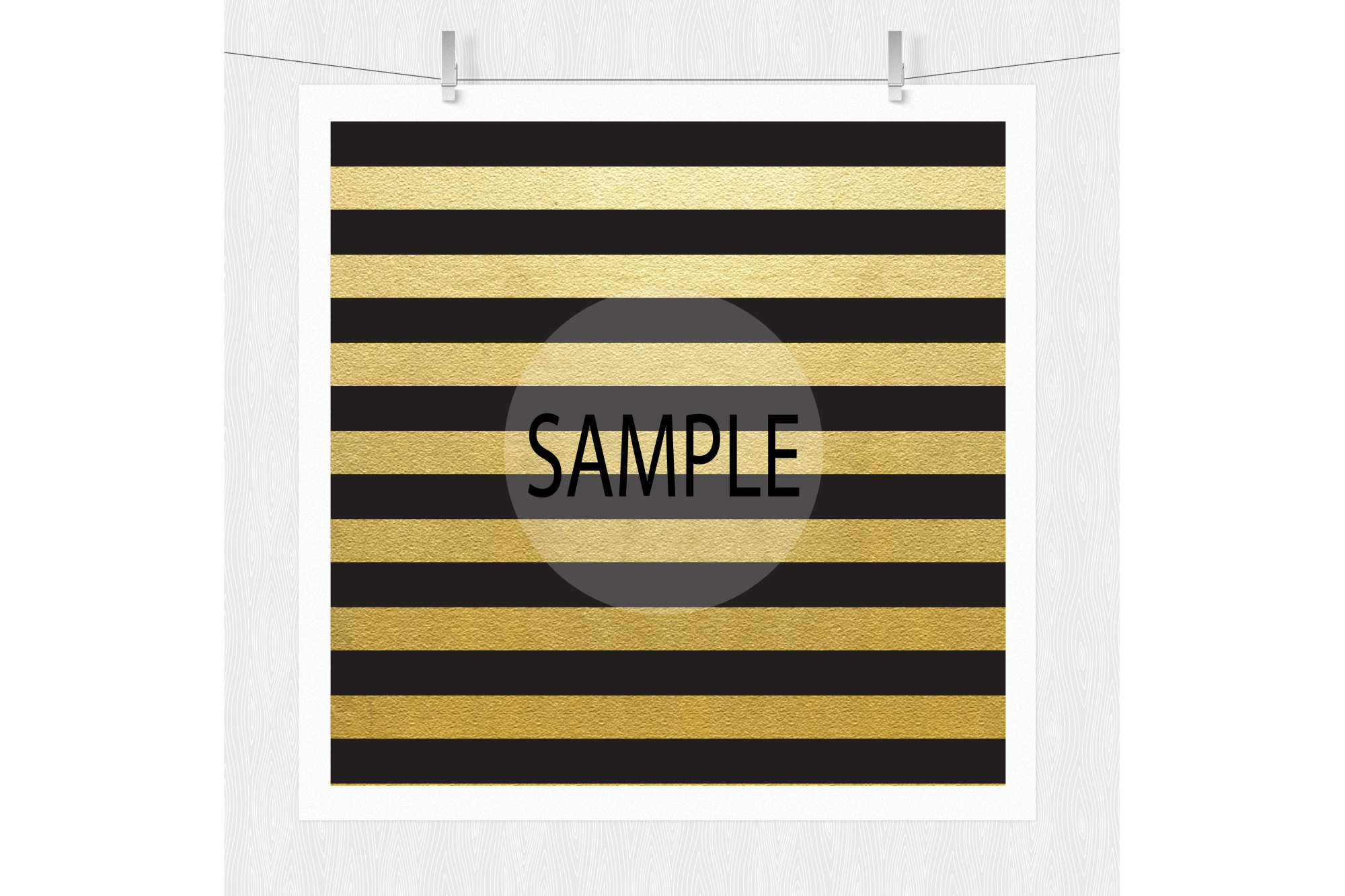 Black and Gold Digital Paper Patterns example image 3