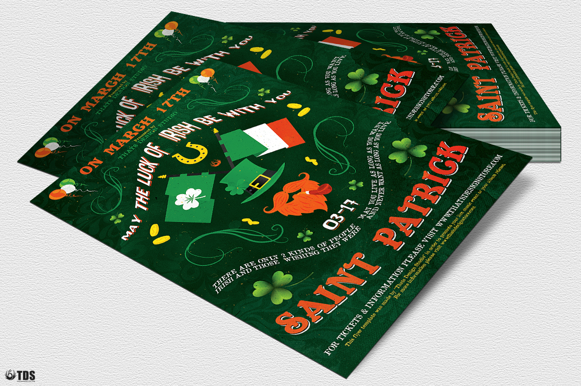 Saint Patricks Day Flyer Template V4 example image 4