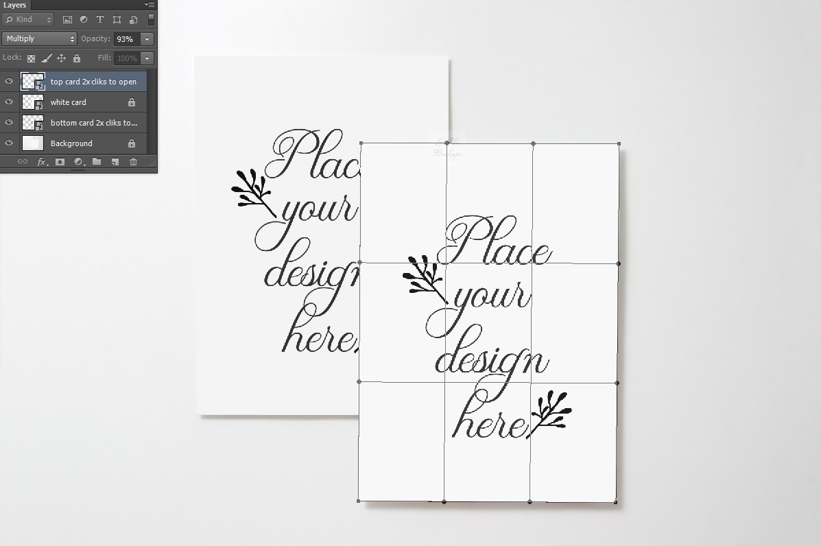 two 5x7 print mockup photo Card Mock up vertical psd flat example image 2