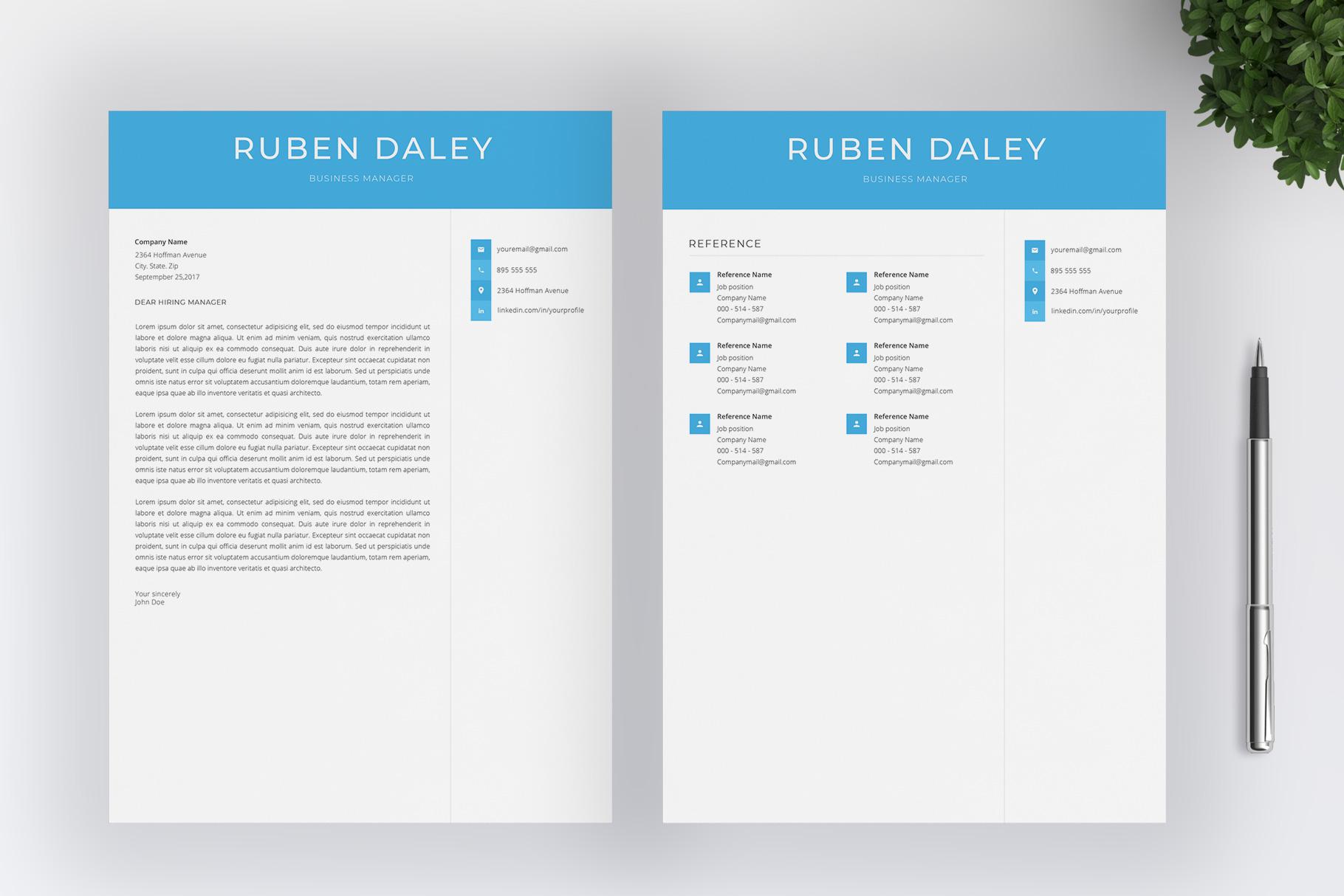 Modern Resume Template / CV Template example image 5