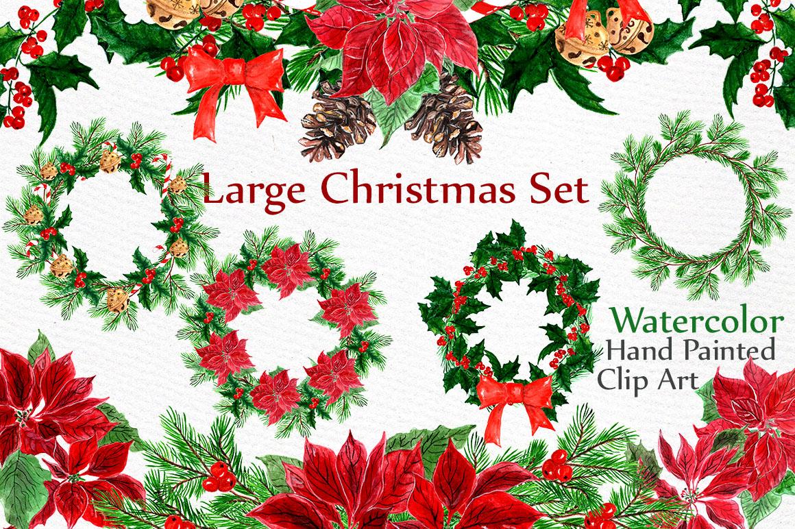 Christmas Wreaths Clip Art example image 1