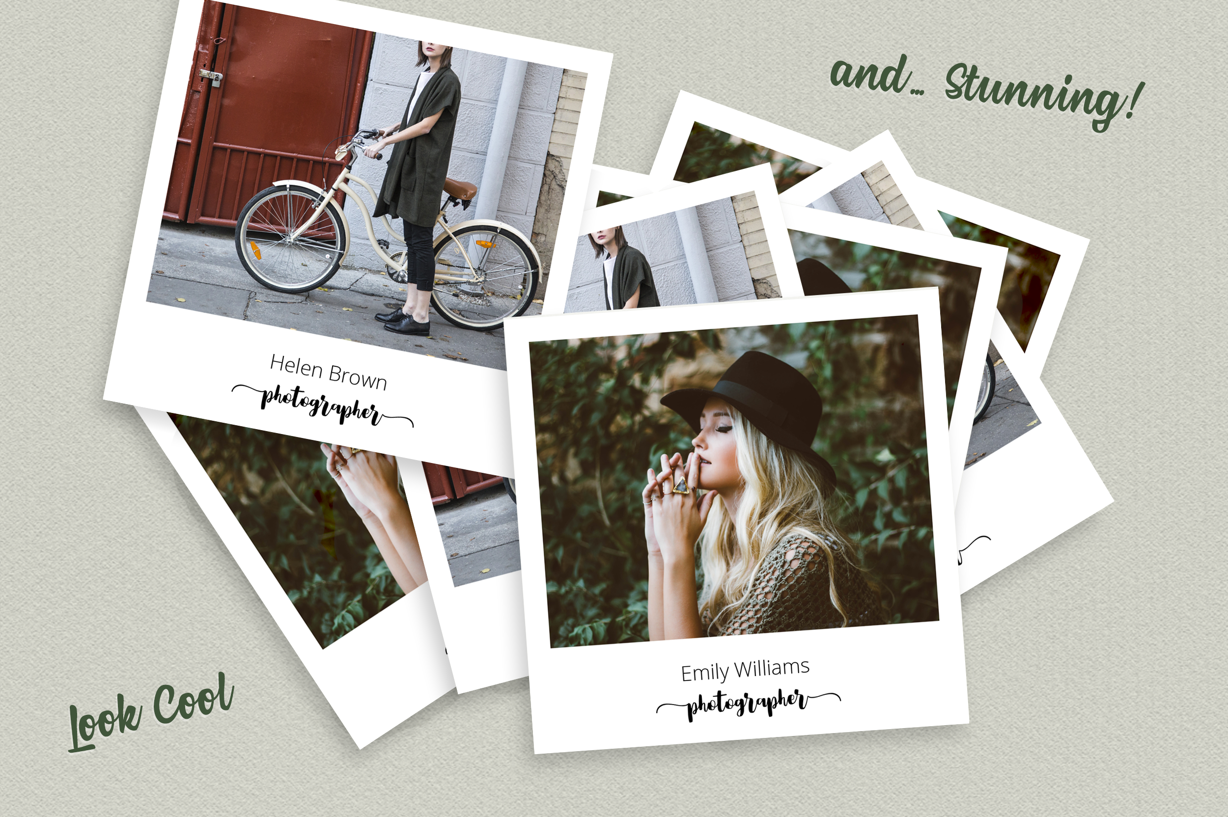 Square Polaroid Photographer Business Card example image 5