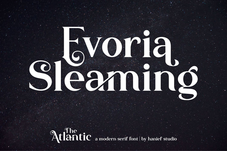 The Atlantic//Modern Serif Font example image 1