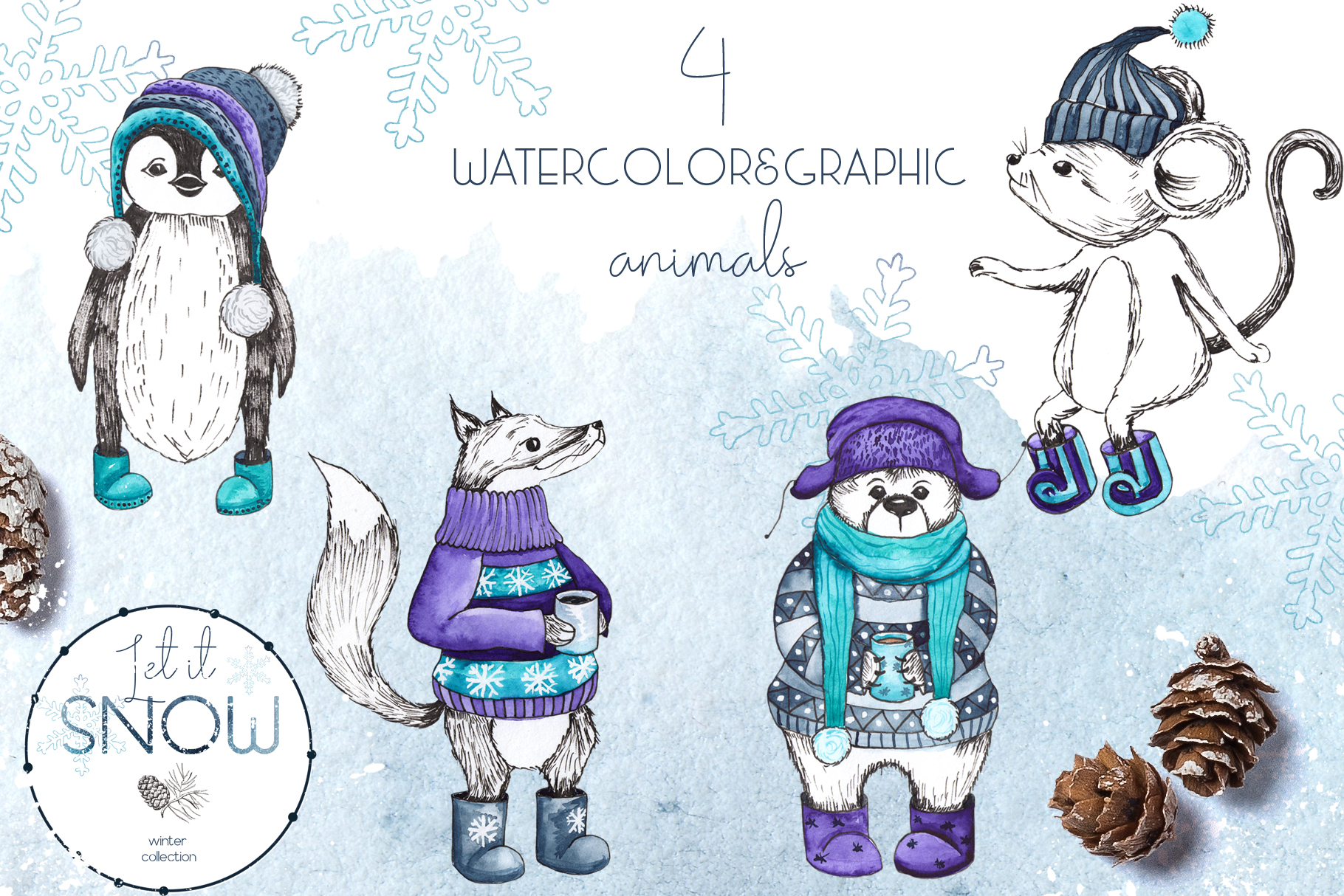Let it snow. Winter collection example image 3