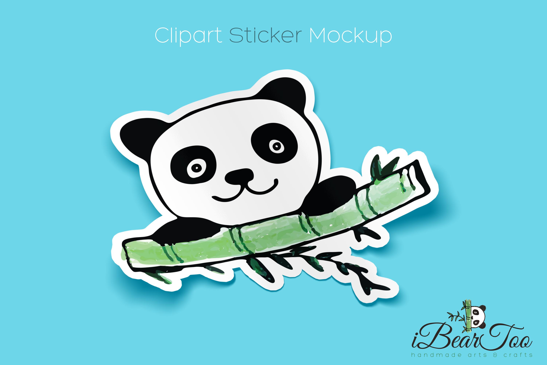 Panda SVG Watercolor Clipart Bear Drawing Vector Cut File example image 4