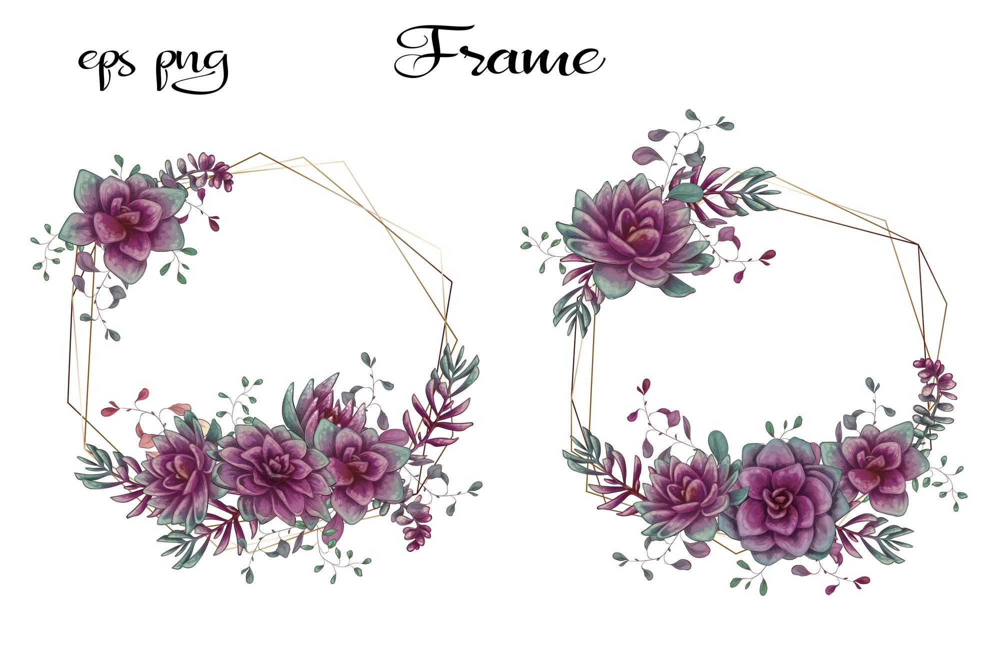 Cacti & Succulents in purple example image 5
