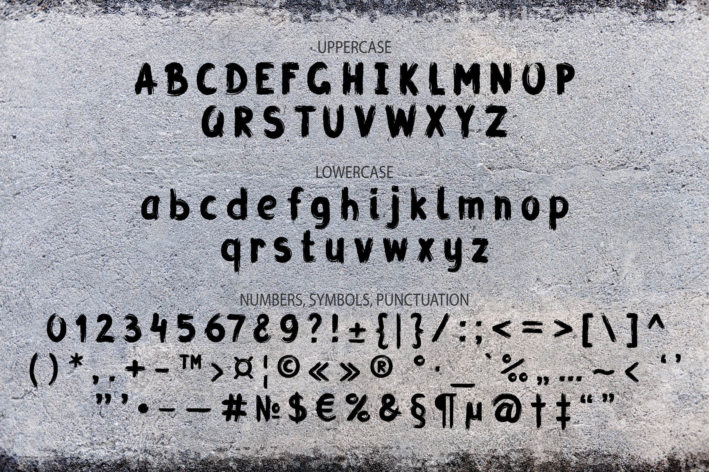 Grunge Latin and Cyrillic Brush Script Font example image 2
