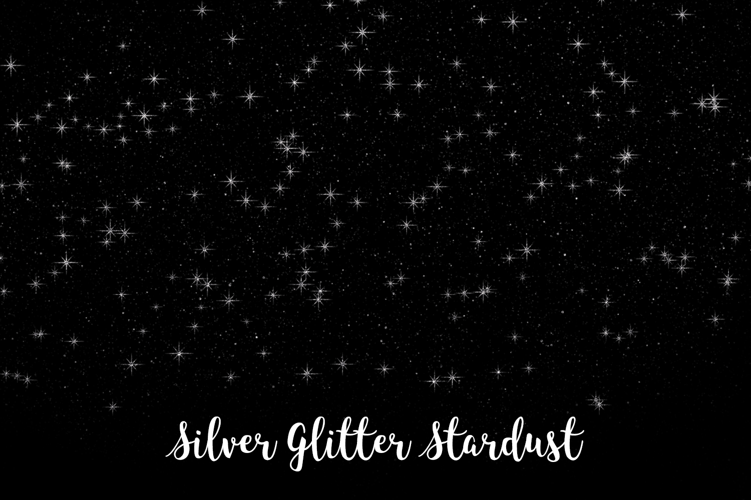 Silver Glitter Stardust, Transparent PNG example image 11