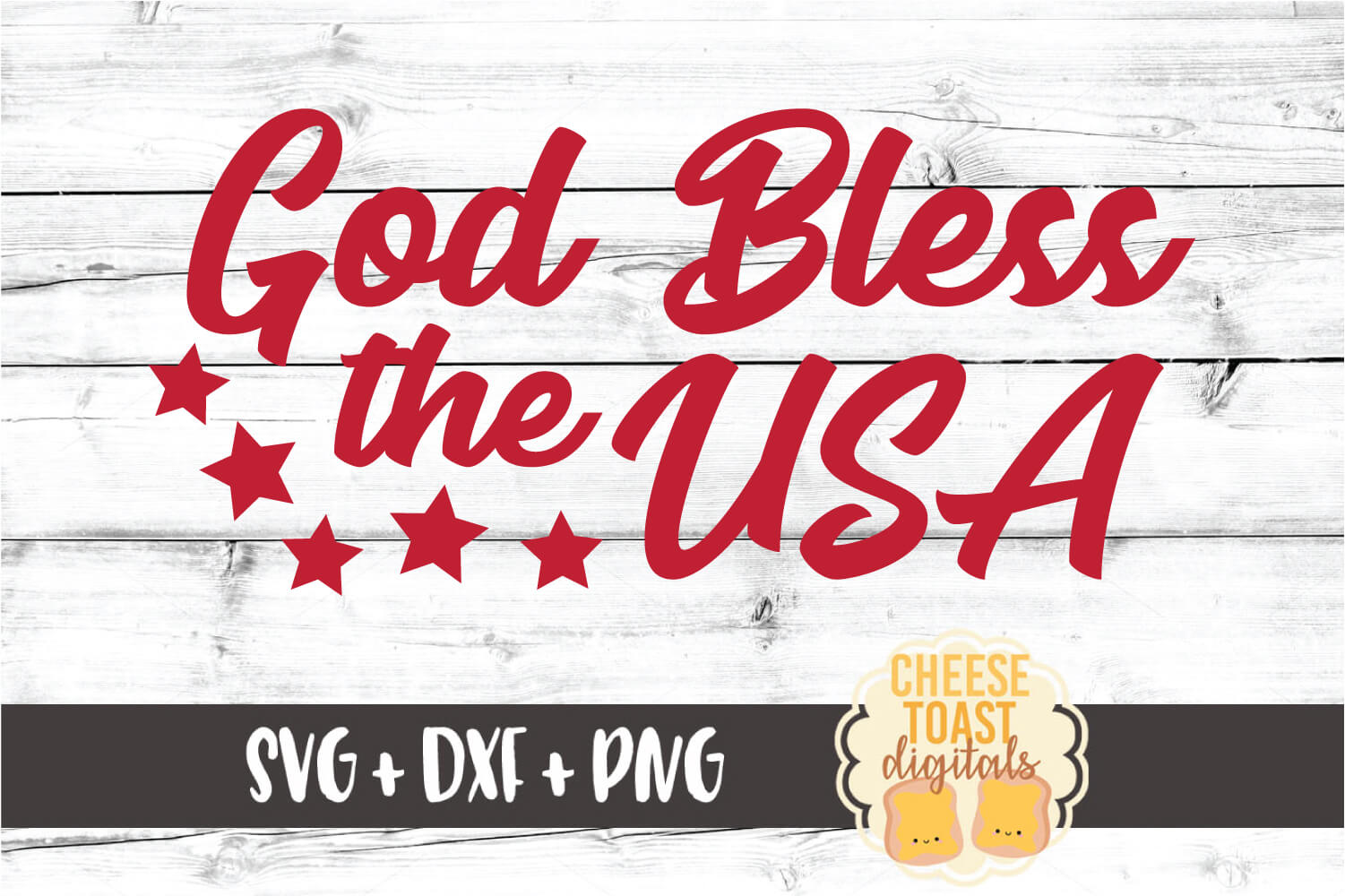 God Bless the USA - Fourth of July SVG PNG DXF Cut Files example image 2