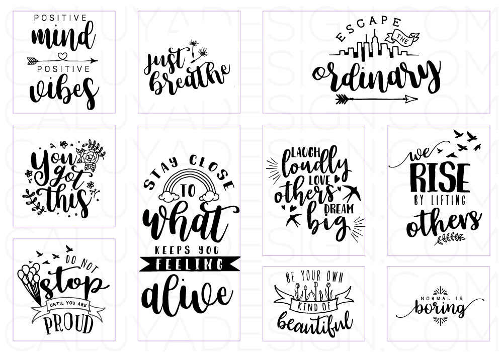 Inspirational Quote SVG Cut File Bundle example image 2