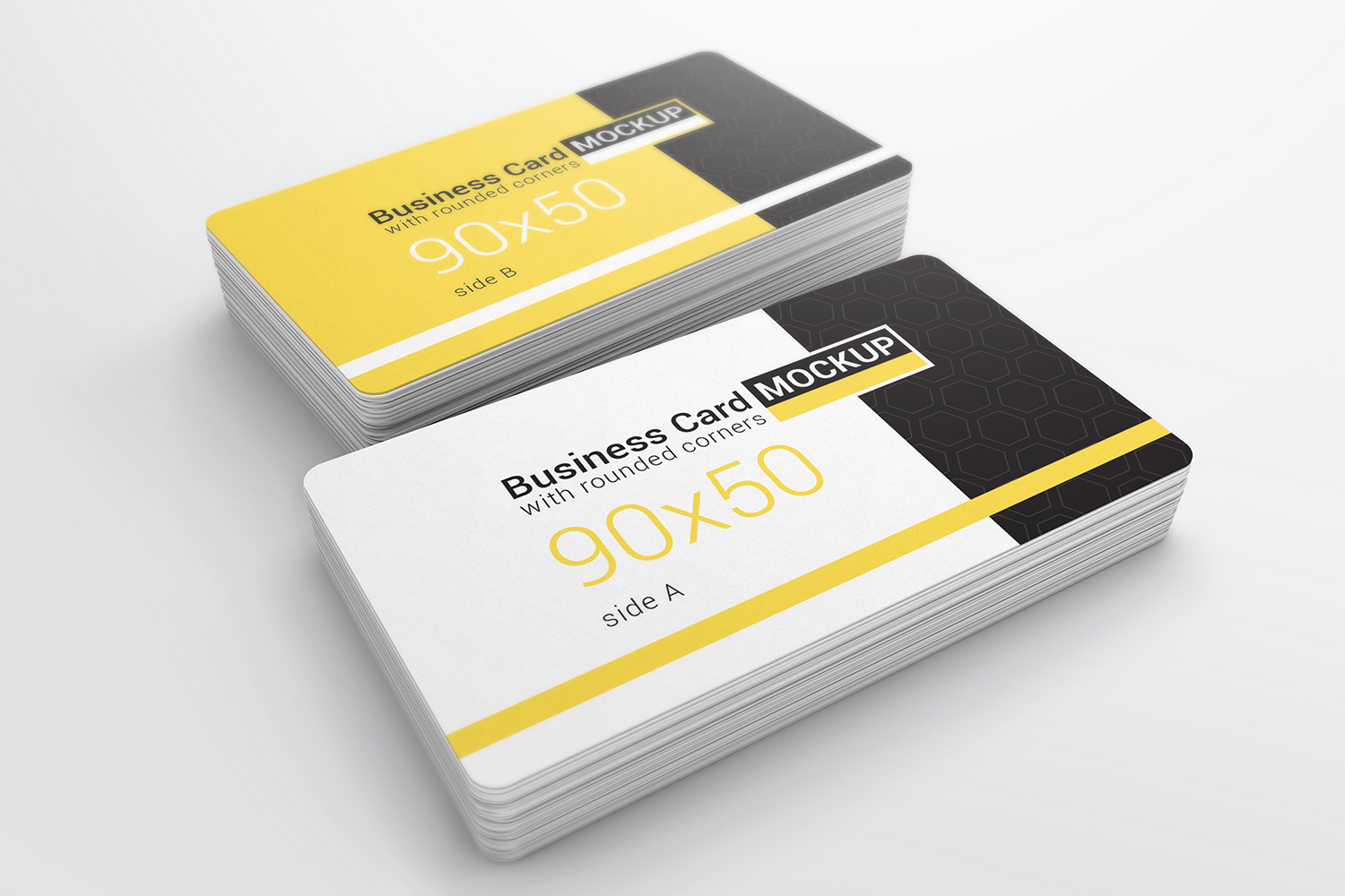 Business Card With Rounded Corners Mockups example image 4