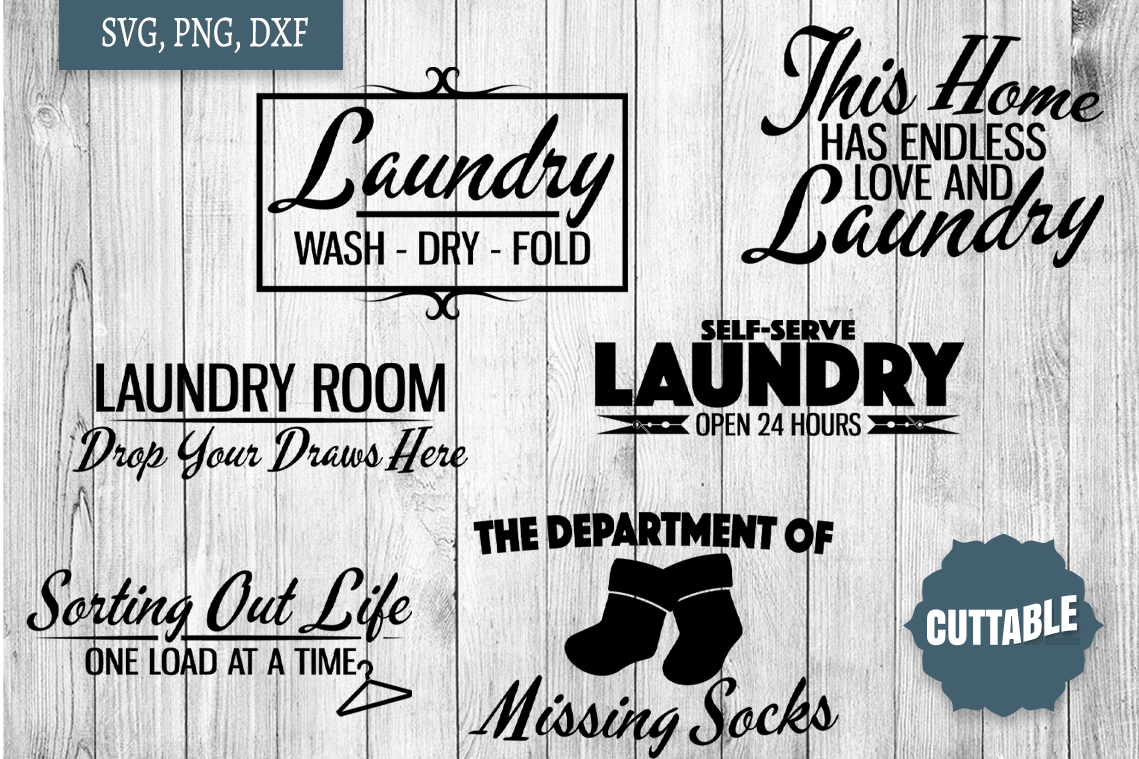 Laundry SVG bundle, Laundry cut file bundle, Home quote SVGs example image 3
