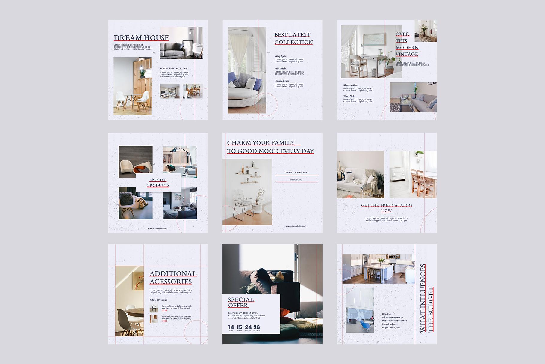 Interior Instagram Templates example image 4