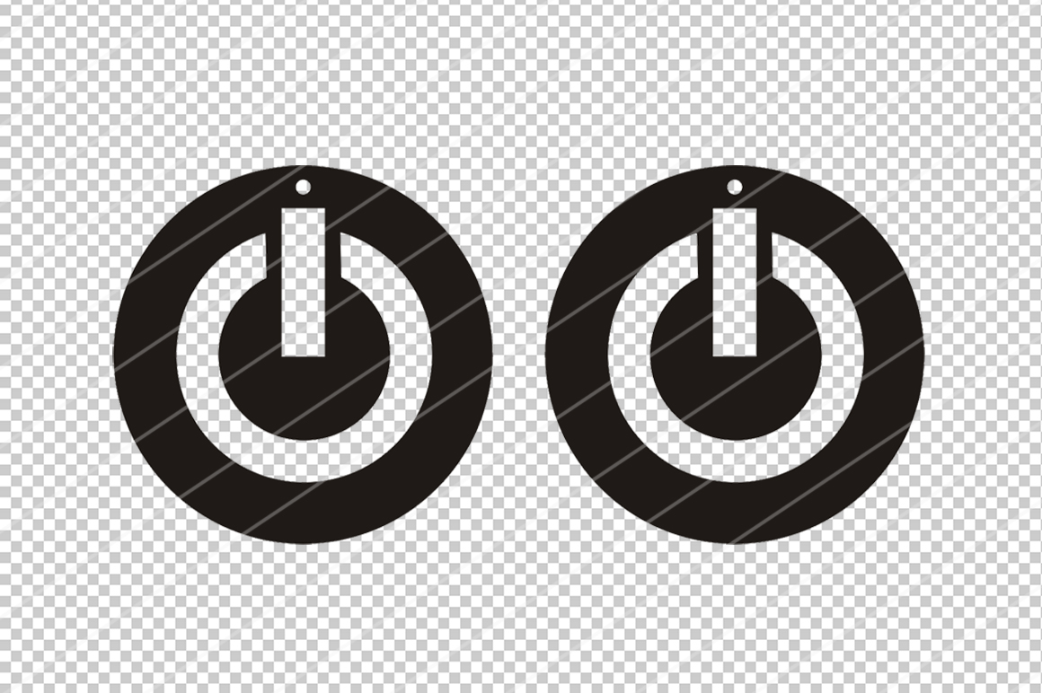 Power button earring svg,Abstract earrings svg,Cricut files example image 2