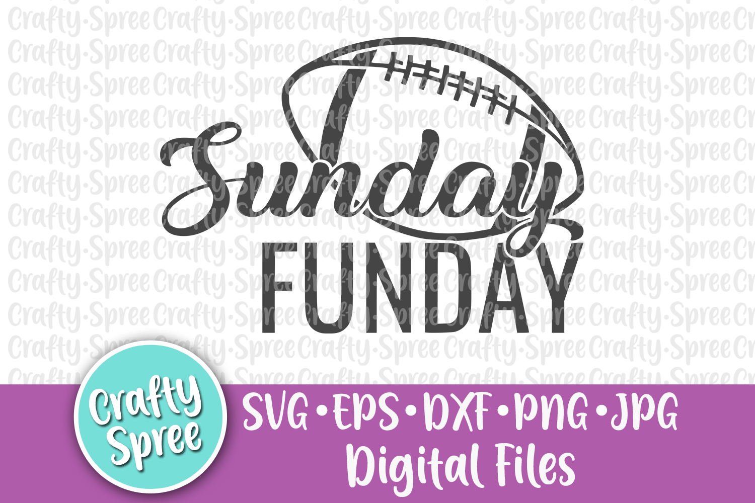 Sunday Funday SVG PNG DXF Cut File example image 2