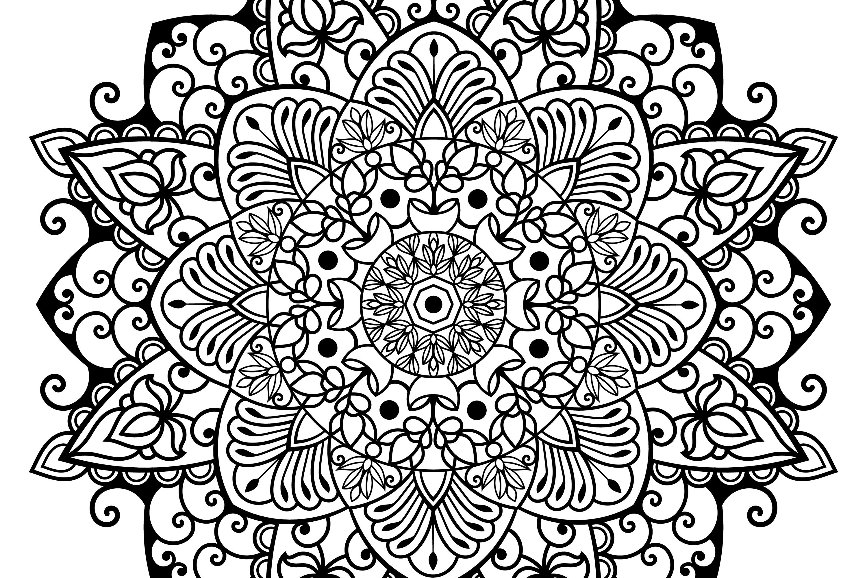 Mandala svg files | Mandala art example image 4
