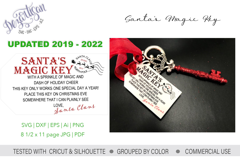 Santa's Magic Key UPDATED SVG DXF PNG cut file example image 2