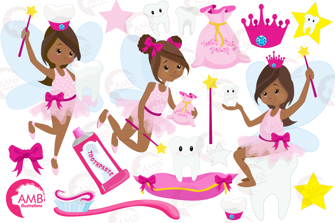 Fairy girls, Toothfairy girls clipart, graphics and illustrations AMB-1134 example image 4