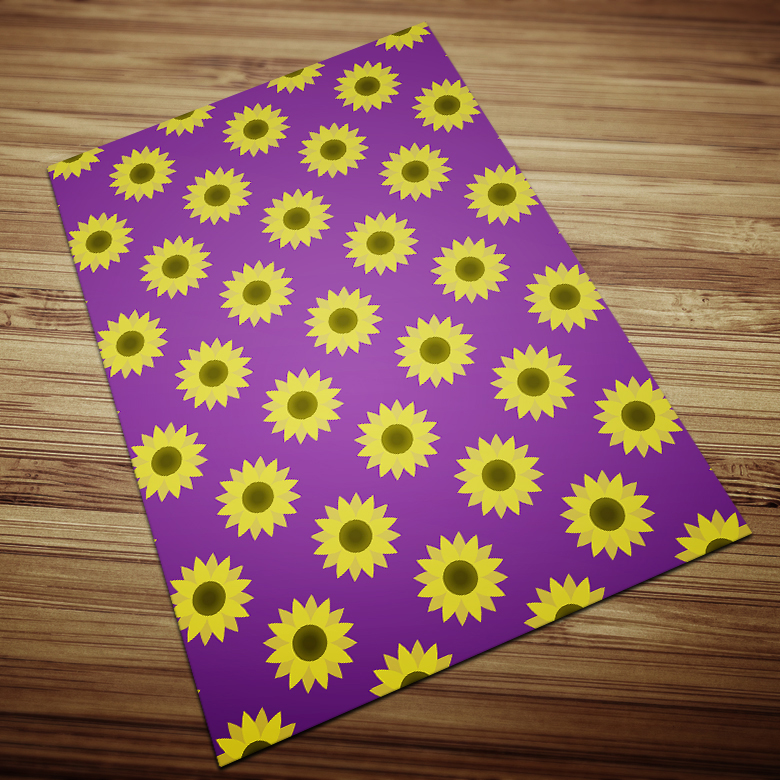 Blooming Sunflowers Digital Paper example image 9