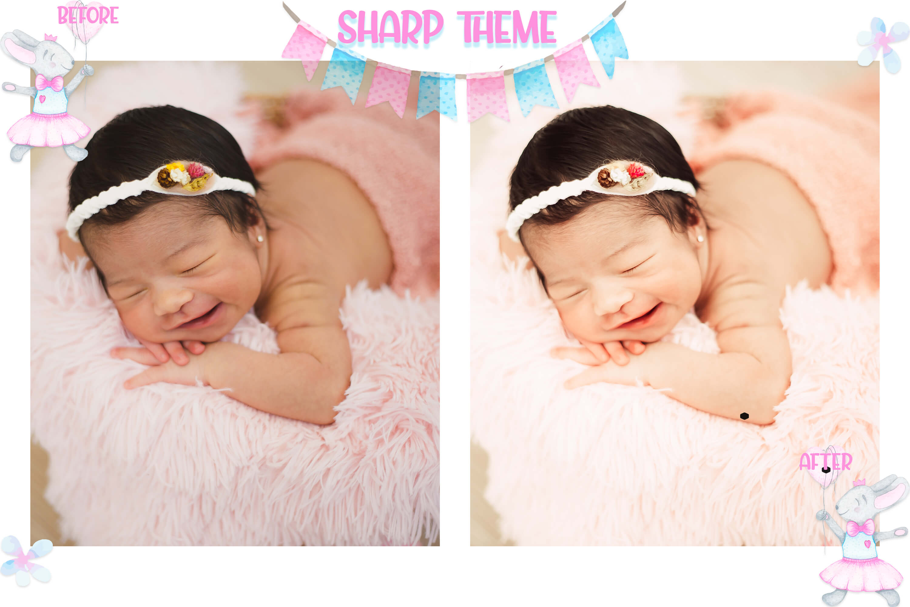 10 Newborn Mobile & Desktop Lightroom Presets, baby skin LR example image 9