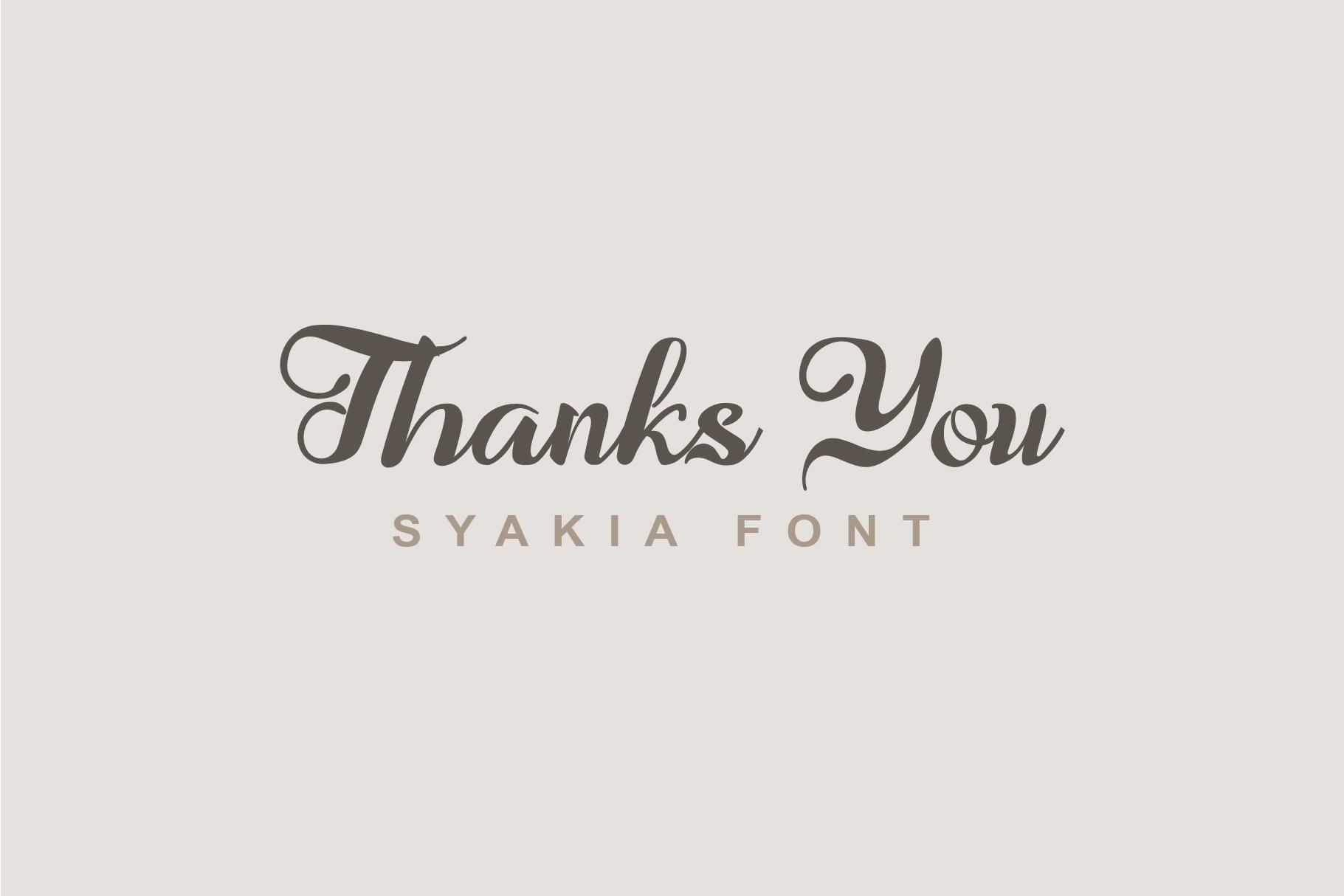 Syakia | New Calligraphy Font example image 7