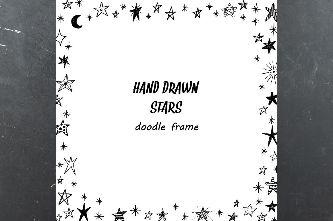 Hand drawn stars + frames example image 4