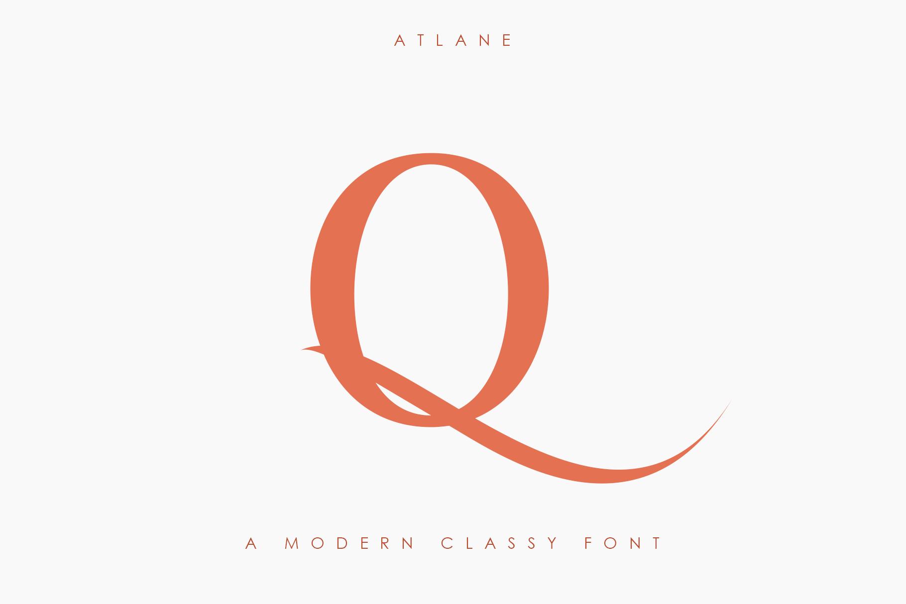 Atlane Casual Serif Font example image 11
