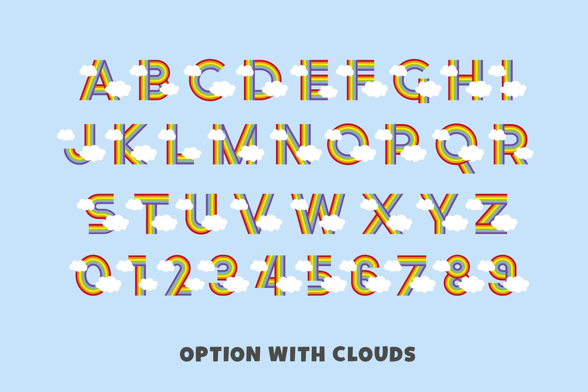 Rainbow Ryder EPS Font example image 3
