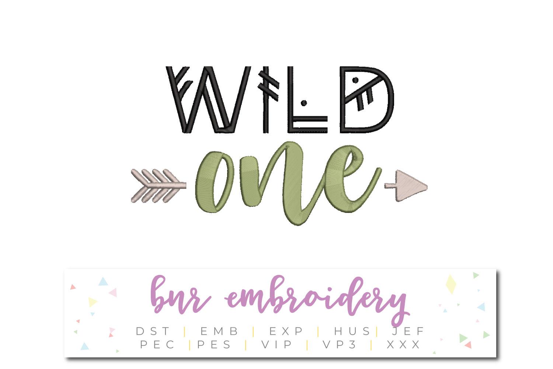 Wild One Machine Embroidery Design example image 1