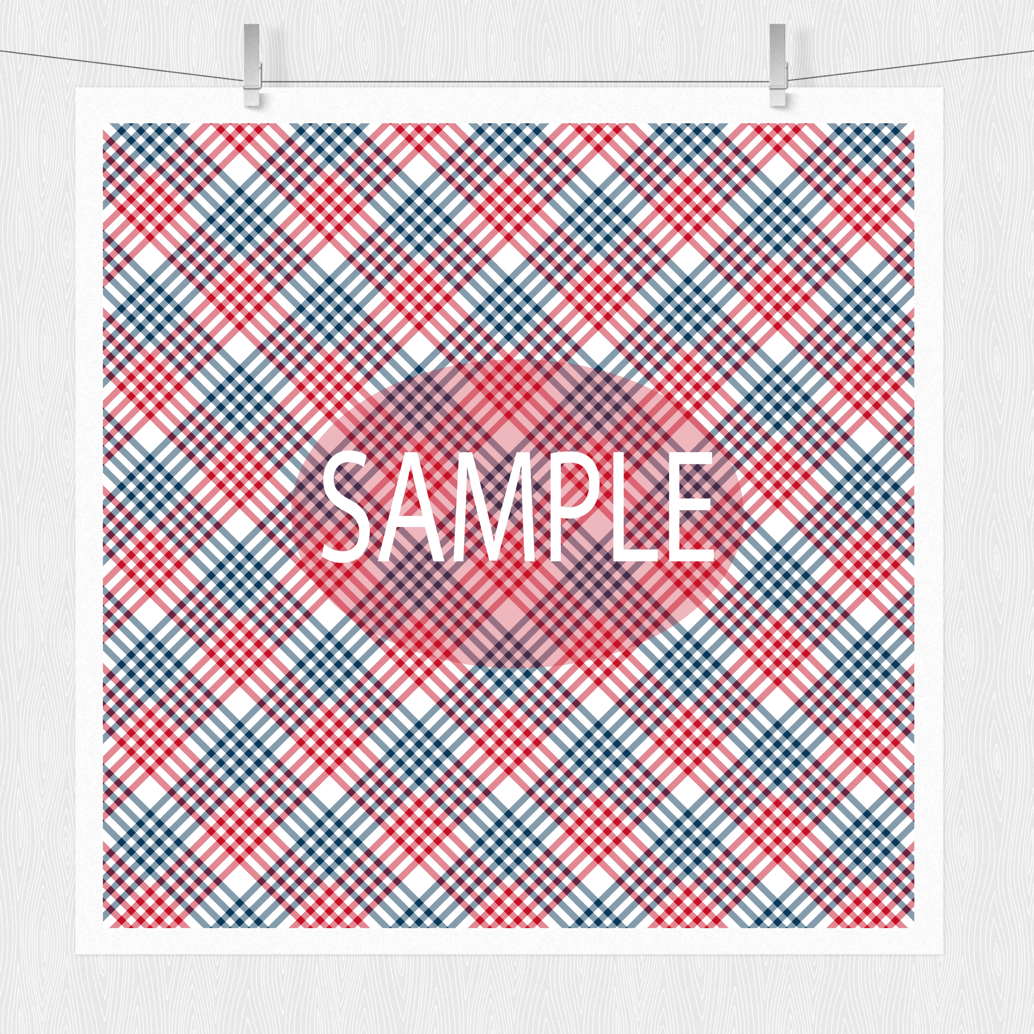 Red White and Blue Plaid Patterns example image 3