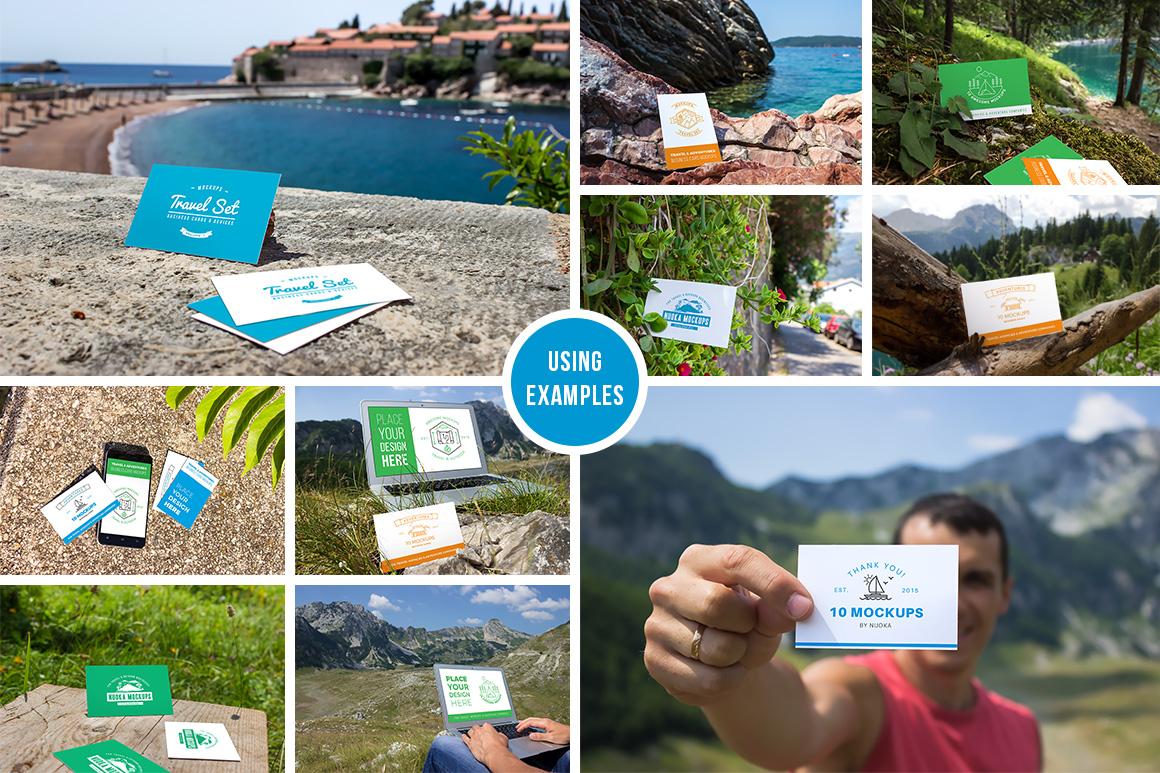 10 Fresh Business Card Mockups vol.1 example image 2