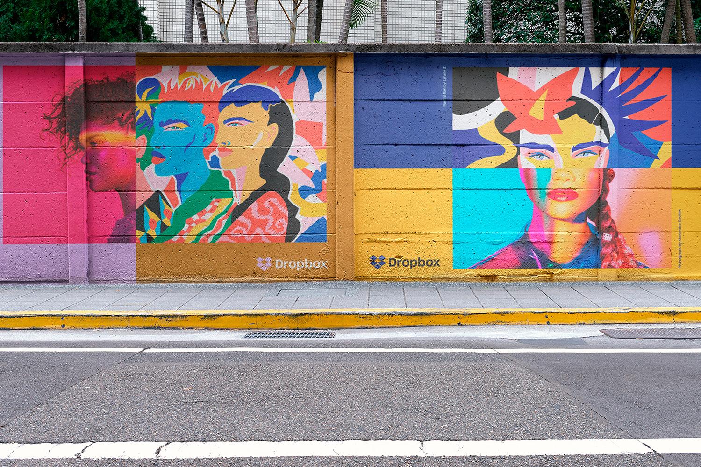 12 Realistic Mural Street Mockup - PSD example image 6