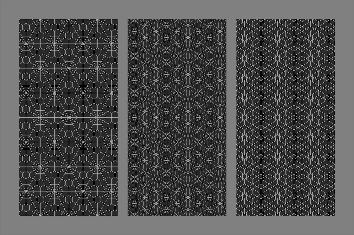 Vector seamless ornamental patterns example image 8