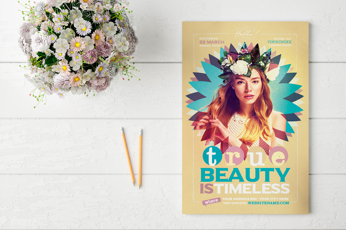 True Beauty Is Timeless Flyer Template example image 2