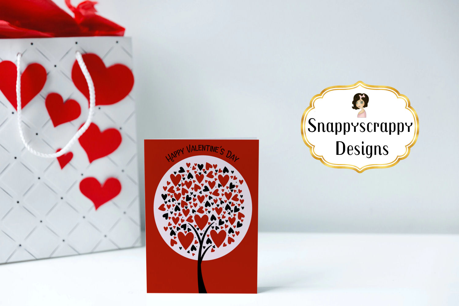 Valentine Heart Trees Clipart example image 3
