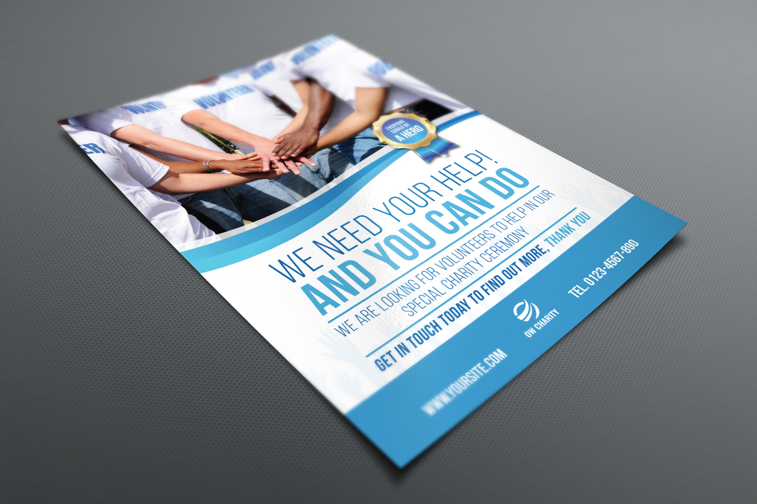 Volunteer Charity Flyer Template example image 3