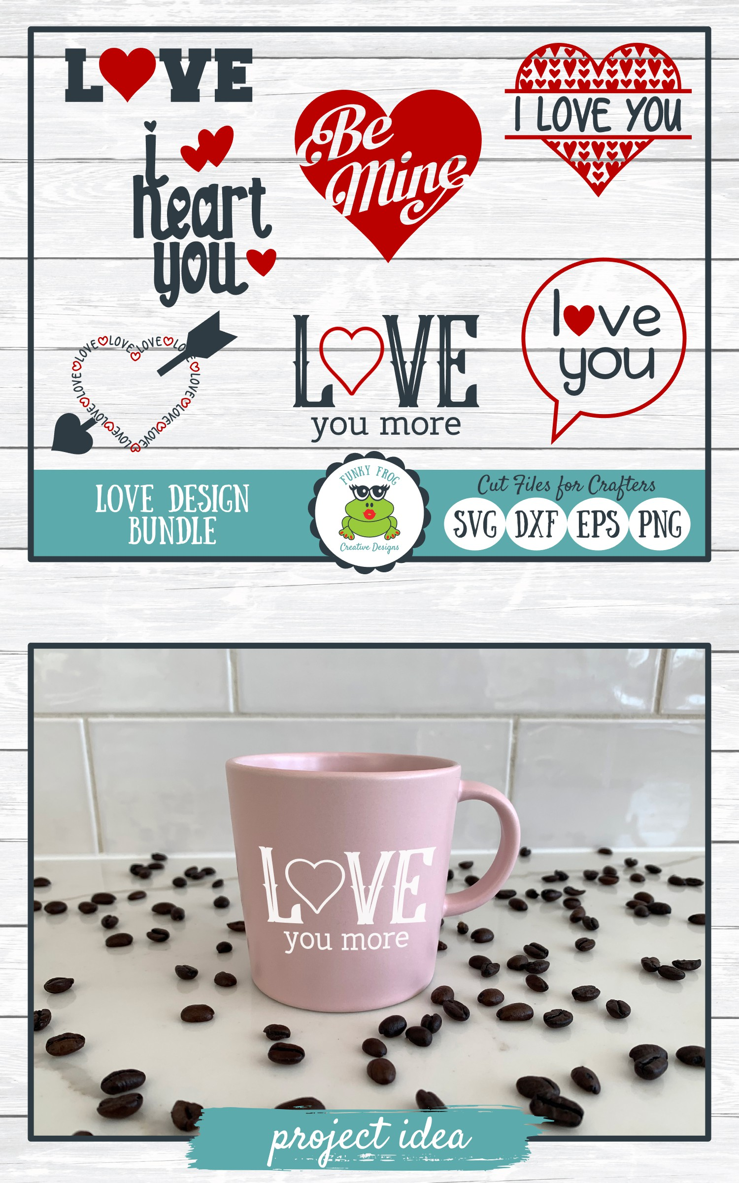 Love Design Bundle - Valentine SVG Cut Files example image 6