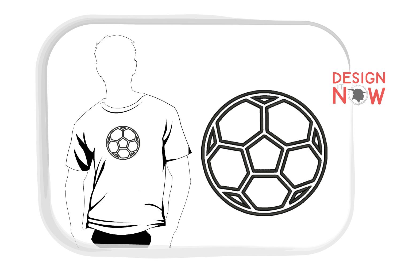 Soccerball Applique Design, Sport Embroidery, Ball Applique example image 2