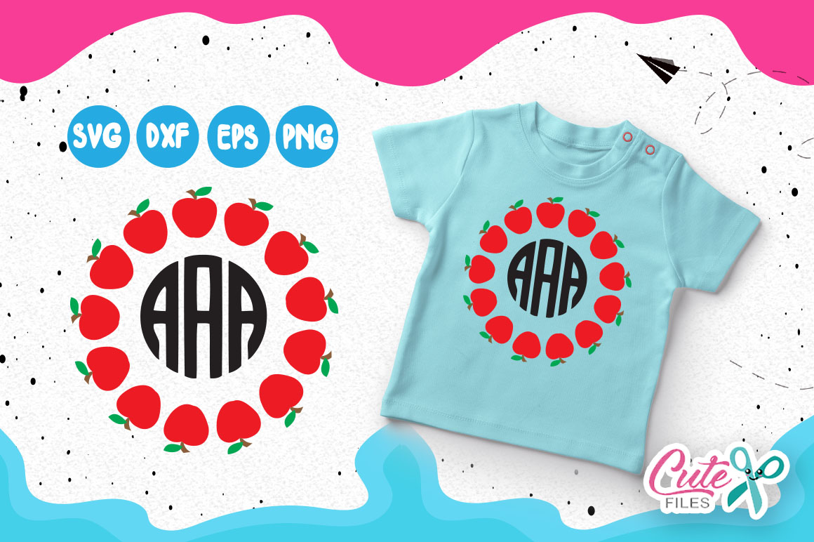 Back to school Monograms frames set, 1st day of school  example image 2